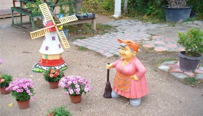 Сделать садовые фигурки своими руками фото