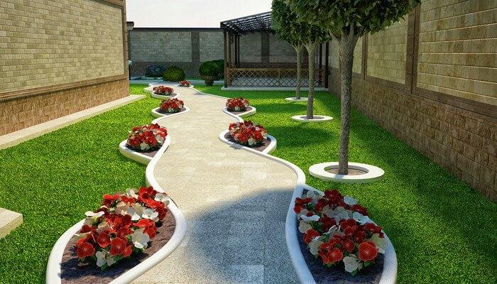 Планировка двора ландшафтный дизайн фото