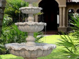 Декоративные фонтаны и водопады