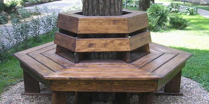 Скамейка с дерева своими руками фото