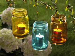 Уличные декоративные садовые светильники своими руками