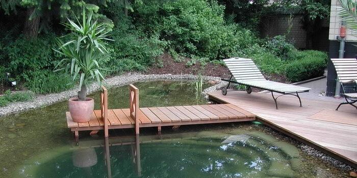 Как сделать мостки в пруд