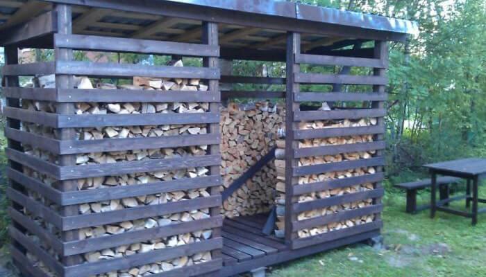 Построить дровяник своими руками