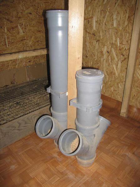 Кормушки для кур из канализационной трубы своими руками 48