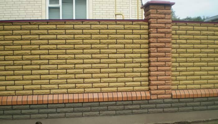 Забор из кирпича видео