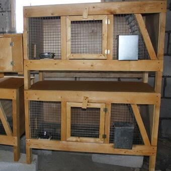 Оригинальные клетки для кроликов своими руками