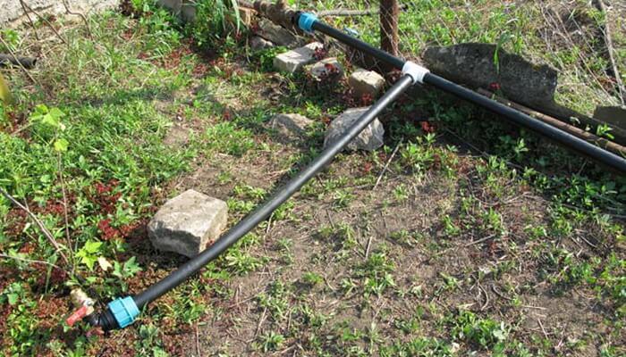 Водопровод на даче для полива из пластиковых труб