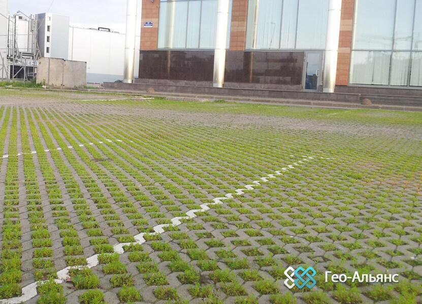 Бeтонные газонные решетки