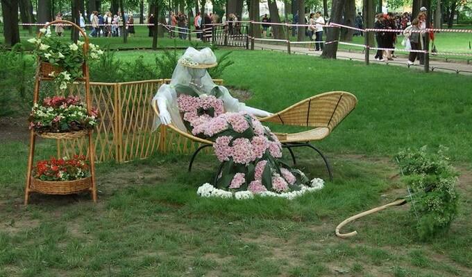 Интерьер для сада и огорода своими руками фото